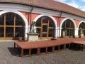příprava presentace Jízdy králů v Loretě v Chlumci nad Cidlinou 2014