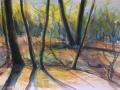 Háj  akvarel Milli Janatková