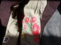 detail -vlněný kabátek s hedvábím s podšívkou s autorským desénem- sítotisk by ashaadox