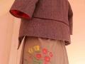 vlněný kabátek s hedvábím s podšívkou s autorským desénem- sítotisk by ashaadox